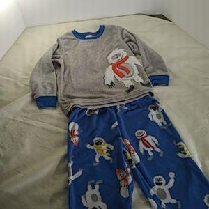 Carters Fleece Abominable SnowMan Pajama set